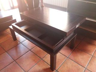 mueble de comedor con mesa de centro abatible