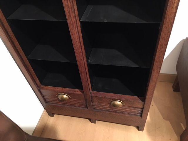 Mueble bandejero estantería madera