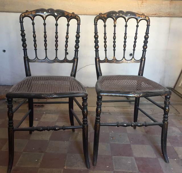 paire de chaises anciennes Napoleon III