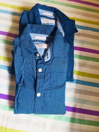 Camisa azul niño T. 5-6