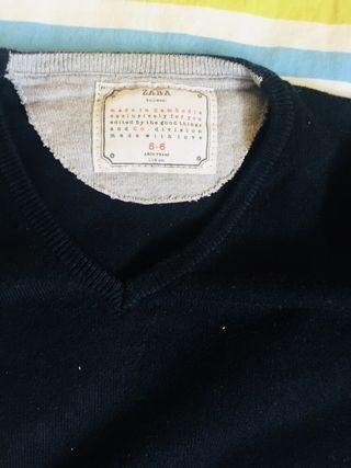 Pack jerséis punto azul marino tallas 5-6