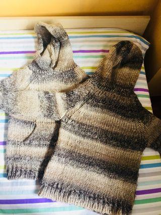 Pack jerséis con capucha de punto