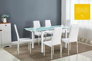 Mesa estensible de Comedor con 6 Sillas
