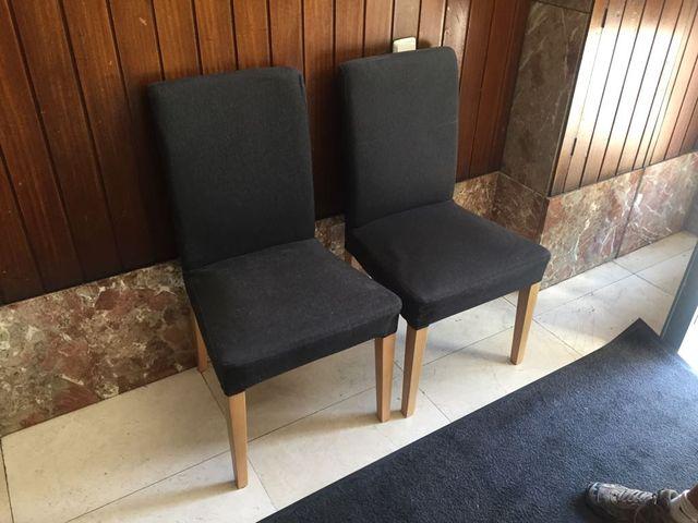 Como nuevas 4 sillas comedor Ikea Henriksdal gris de segunda mano ...