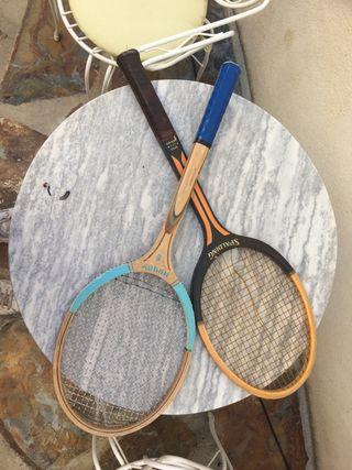 Raquetas antiguas tenis