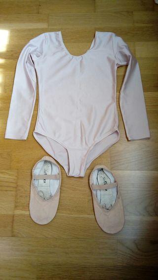 Zapatillas y malla de ballet