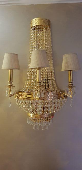 Aplique pared cristal 10 bombillas