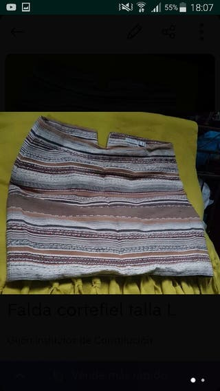 falda de cortefiel talla L