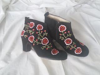 Zapatos botas flamenco profesional Begoña Cervera