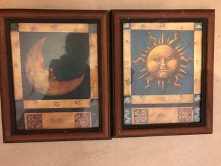 Cuadro sol y luna
