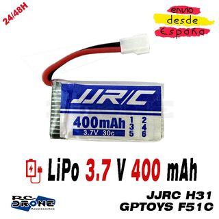 BATERÍA JJRC LiPo 3.7V 400mAh Drone JJRC H31 RC
