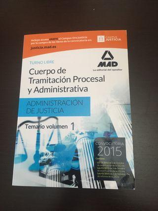Libro oposiciones Cuerpo de Tramitación procesal..