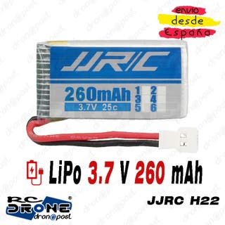 BATERÍA LiPo JJRC 3.7V 260mAh Conector 51005 RC Dr