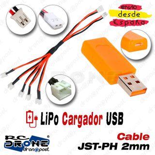 Cargador USB 5 en 2 ST-PH 2mm Macho Hembra
