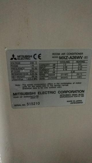 unidad exterior Mitsubishi 3x1 y 2x1