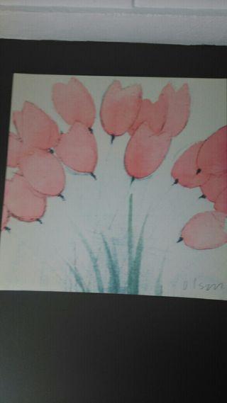 cuadro de amapolas de 90 cm x 90 cm nuevo 40 €