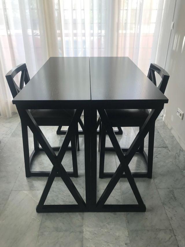Mesa comedor abatible con 2 taburetes de segunda mano por 325 € en ...