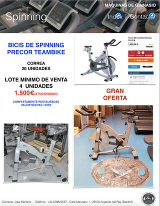 BICI SPINNING PRECOR TEAMBIKE