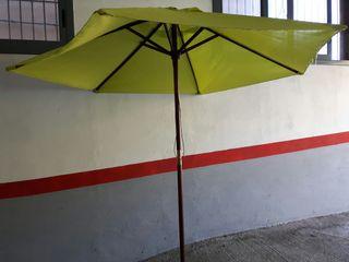 parasol de jardín estructura de madera 2. 40 metro