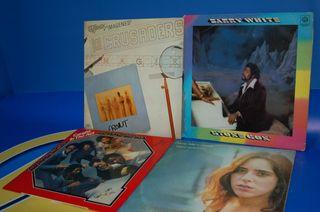 Lote 4 vinilos discos LPs BLACK MUSIC-soul-funk