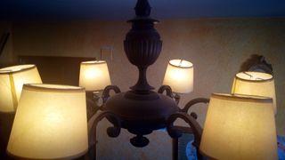 lámpara estilo forja de bronce