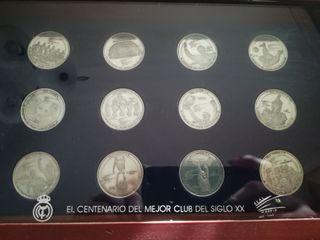 Colección monedas plata Real Madrid