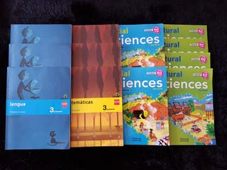 Libros de texto de 3° de Primaria - lote 12 libros