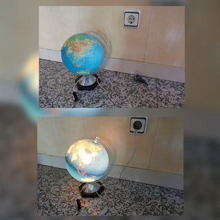 Lámpara (globo terráqueo)