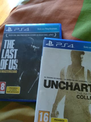 Uncharted 1,2,3 y the last of us