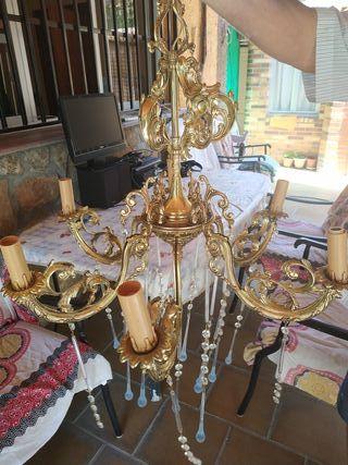 lampara cobre antigua