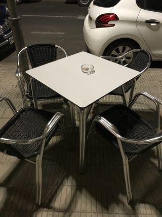 Muebles terraza mesas y sillas