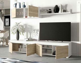 Mueble nordico moderno salón comedor de televisión