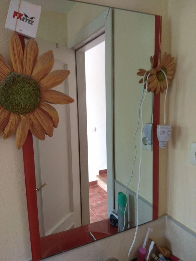 Mueble cuarto de baño naranja de segunda mano por 25 € en Chilches ...