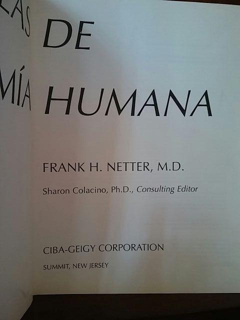 Atlas Anatomía Humana Nettler