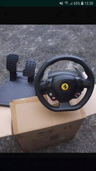 Xbox 360 + Volante Ferrari + 4 juegos