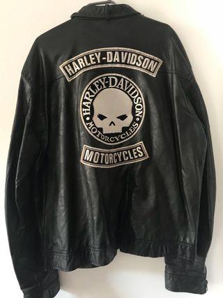 Cazadora de cuero Harley Davidson