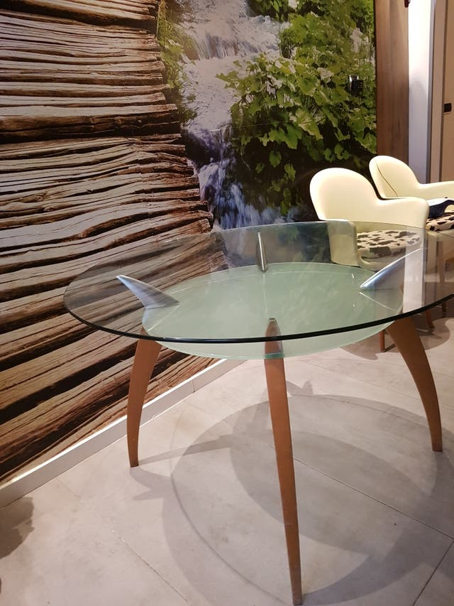 Mesa comedor cristal y madera de segunda mano por 120 € en Castello ...