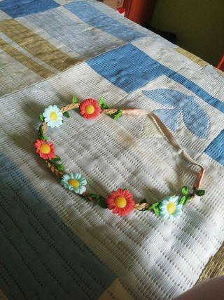 DIADEMA-TURBANTE de flores