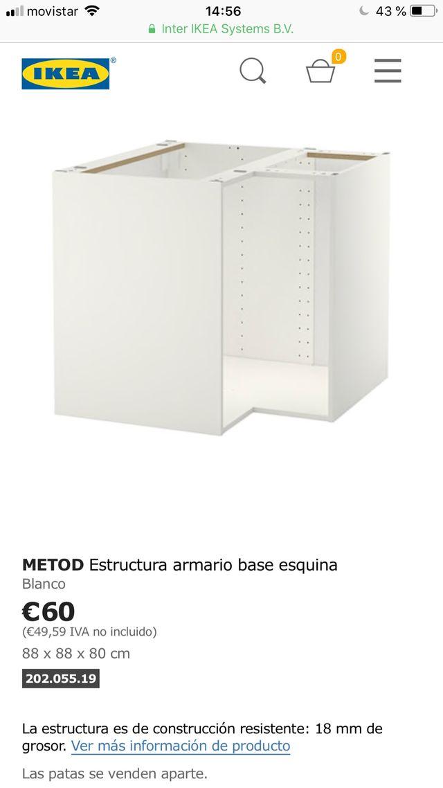 Mueble esquinero cocina de segunda mano por 40 € en Les Borges ...
