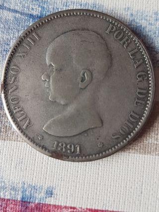moneda alfonso xiii 1891