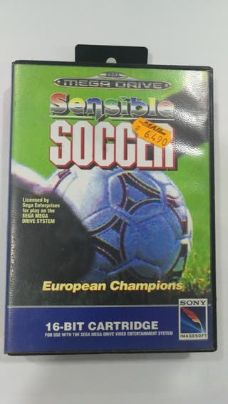 Juego Sensible Soccer mega drive