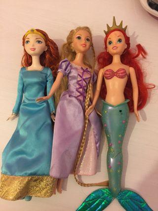 Pack de 3 barbies Disney