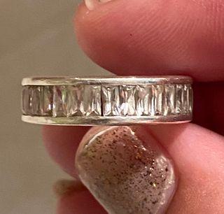 Anillo de Circonitas Baguette en plata de ley 925