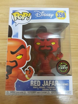 Funko Pop Red Jafar Limited Edition Glow Chase.