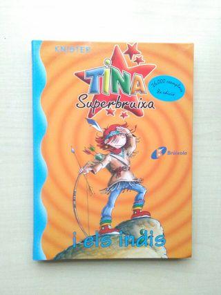 Libro Tina superbruixa i els indis. Knister.