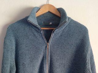 Chaqueta unisex de lana azul S