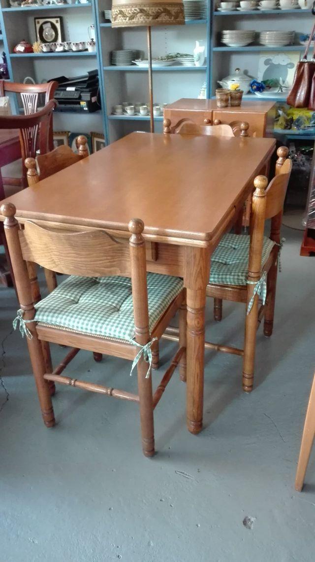 Conjunto mesa de cocina con 4 sillas Mod. Zam de segunda mano por ...