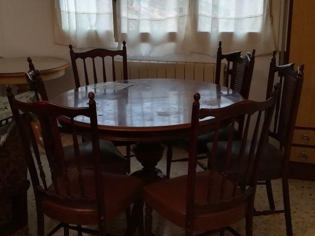Mesa comedor con seis sillas de segunda mano por 80 en zaragoza en wallapop - Wallapop mesa comedor ...
