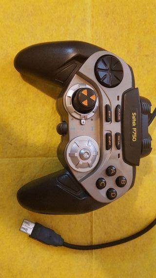 gamepad usb digital pc y mac saitek p750