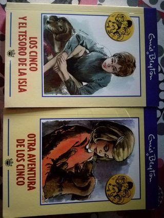 Libros clásicos Los cinco de Enid Blyton.